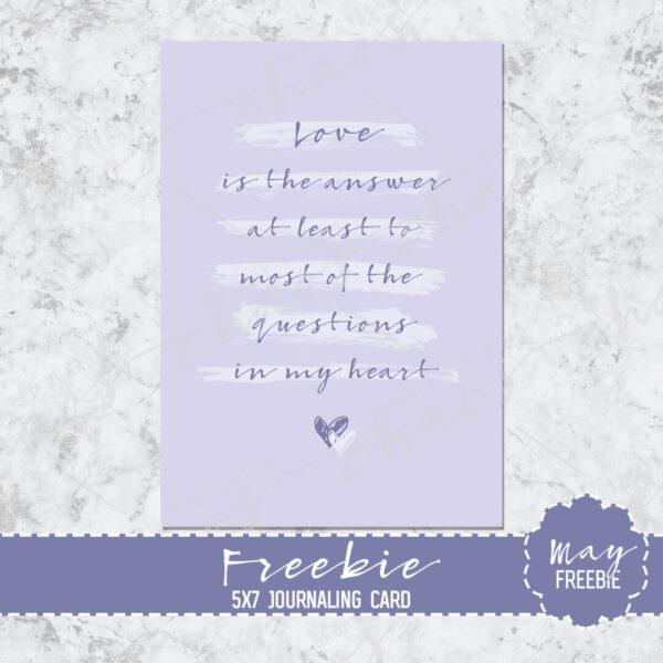 Love Journaling Card