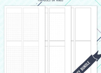 Minimal Undated Weeks Inserts – Grey – WO2P – WO4P – 3 styles included – Printable