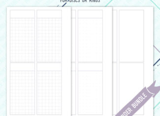 Minimal Undated Weeks Inserts – Lavender – WO2P – WO4P – 3 styles included – Printable