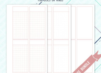 Minimal Undated Weeks Inserts – Dusky Rose – WO2P – WO4P – 3 styles included – Printable